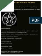 RITUAL DE PROTEÇÂO PARA INVOCAÇÂO DOS ANJOS