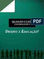 Livro Universalizacao Da Educacao