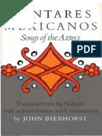 Bierhorst - Cantares Mexicanos En