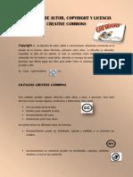 Derechos de Autor, Copyright y Licencia Creative Commons