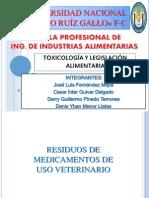Residuos de Uso Veterinario - Toxicologia