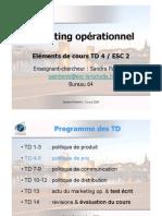 Eléments de cours TD4 Mk Op. ESC2