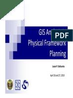 GIS-Based Analysis in Physical Framework Plans