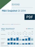 Q1 2014 M&A Snapshot