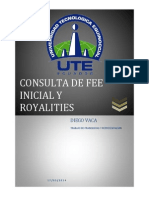 Consulta de Fee Inicial y Royalities