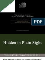 Isaac Schwartz Hidden in Plain Sight