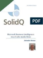 Microsoft Business Intelligence Vea El Cubo Medio Lleno