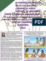 HOJITA EVANGELIO DOMINGO V CUARESMA  A COLOR