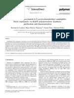 Chaix Ch -- Poly(N-Tert-Butyl Acrylamide-b-N-Acryloylmorpholine) Amphiphilic Block Copolymers via RAFT Polymerization- Synthesis, Purificati