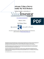 Tilson Sodastream Article Survey Results Whitney Tilson Kase Capital 3-5-14