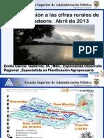 Aproximacion a Las Cifras Rurales de Fuentedeoro Abril de 2013 EGG ESAP