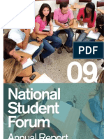 National Student Forum's 2009 Report
