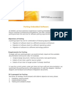 Porting Embedded Software Case Study