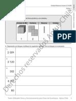 Cuadernillos Alumnos 4° básico matemáticas