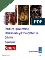 Estudio Sobre El Paramilitarismo y La Parapolitica