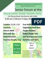 Pascal Center Senior Forum &  Garden Party