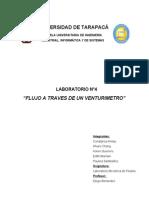 Laboratorio 4 -Informe - Flujo a Traves de Un Venturimetro