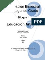 2do Grado - Bloque 1 - Educación Artística