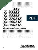 Manual Casio Fx82 Fx83 Fx85 Fx270 Fx300 Fx350 Ms