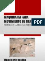 Maquinaria y Movimiento de Tierra