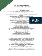 Rilke as Elegias de Du No