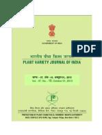Plant Variety Journal October 2013