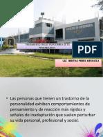 Clase 7.- Tratamiento en Los Trastornos de La Personalidad - Lic. Bertha Pebes Mendoza