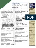 April 6, 2014 Worship Bulletin