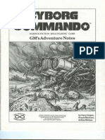 Cyborg Commando RPG-GMs' Adventure Notes