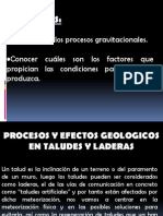 Geomorfologia - Cap 3 - Procesos Gravitacionales