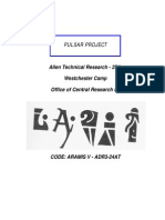 PULSAR PROJECT---Alien Technical Research - 25A Westchester Camp Office of Central Research #3