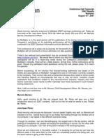 Multiplan Transcription 2Q07 20070829 Eng