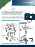 Sports Worksheets Marathon 3