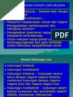 Latar Belakang Dasar Luar Malaysia
