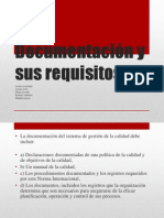 Documentación y sus requisitos