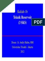 Kuliah 1b TekRes AH Dasar Teknik Reservoir A