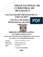 Proyecto de Gestion Educativa