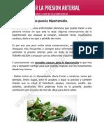 Remedios caseros para la Hipertensión.
