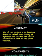 Speed Checker on Highway ppt