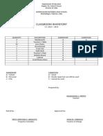 Classroom Inventory