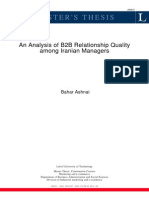 Analysis of B2B Relationship Quality Among Iranian Managers