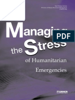 UNHCR Booklet on Stress Management