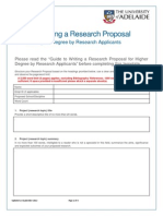 Admision Research Proposal Template