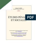 Gabriel Tarde - Études pénales et sociales (1892)