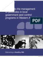 A Guide to the Management of Pesticides in Local Government Pest Control Programs
