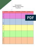 Preschool Lesson Planner Form