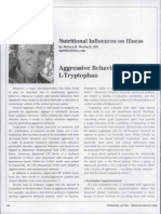 Aggressive Behavior and L-Tryptophan