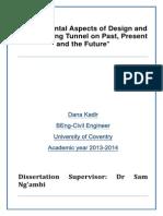 My Plan for Dissertation Last Tunnel