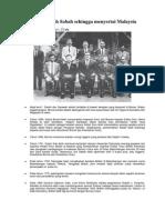 Kronologi Sejarah Sabah Sehingga Menyertai Malaysia