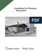 Operational guidelines Plönninge biogas plant